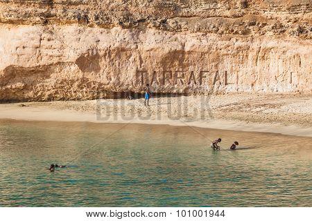 Tarrafal beach in Santiago island in Cape Verde - Cabo Verde poster