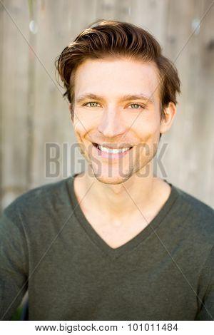 Portrait of a smiling happy man