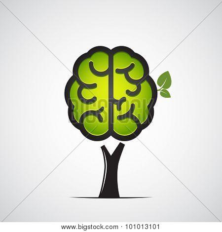 Brain tree. Vector illustration