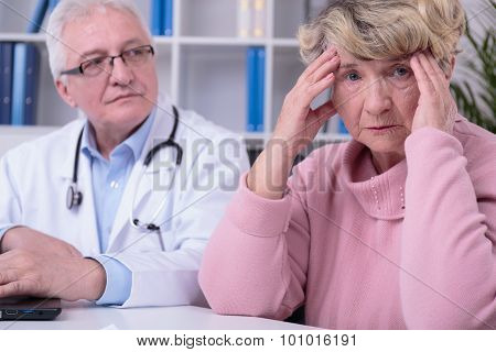 Worried Elder Woman