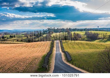 Antietam Landscape with Road through the Center
