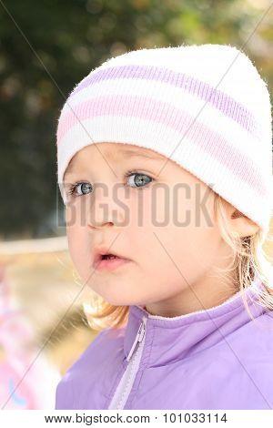 Girl In Lilac Coat