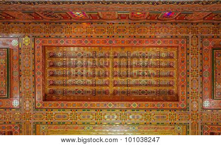 Traditional Moroccan Carved Ceiling