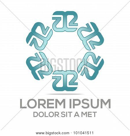 Abstract logo lettermark icon