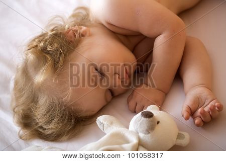 Sleeping Boy With Toy