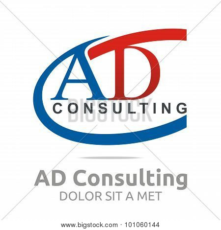 Abstract symbol logo ad consulting letter design
