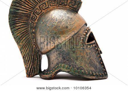 Profile Of Greek Helmet.