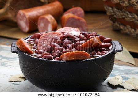 Purple bean feijoada
