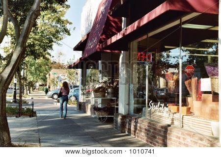 Sidewalk Downtown Davis