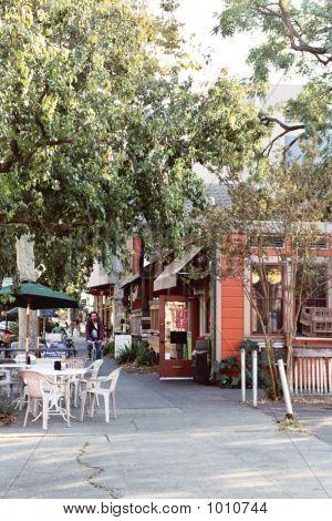 A Quaint Sidewalk, Downtown Davis