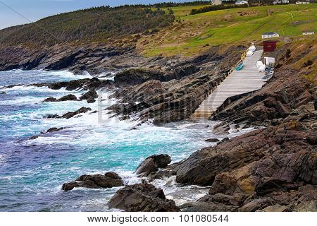 A view of Pouch Cove, Newfoundland, an outport community that is located on the Avalon Peninsula. poster