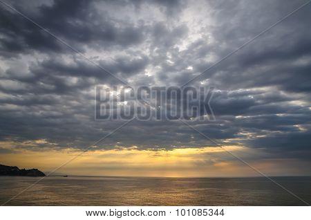 Dramatic clouds. Landscape