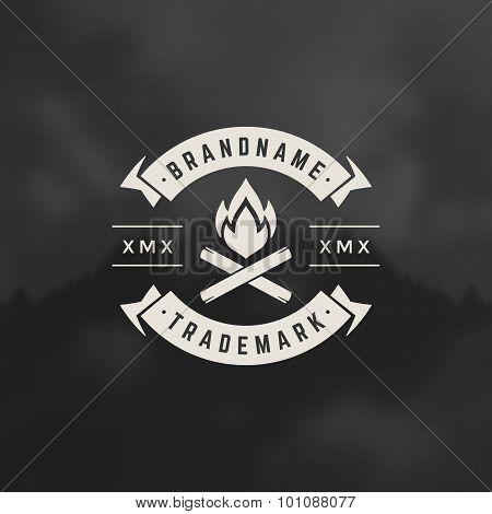Bonfire flame Design Element
