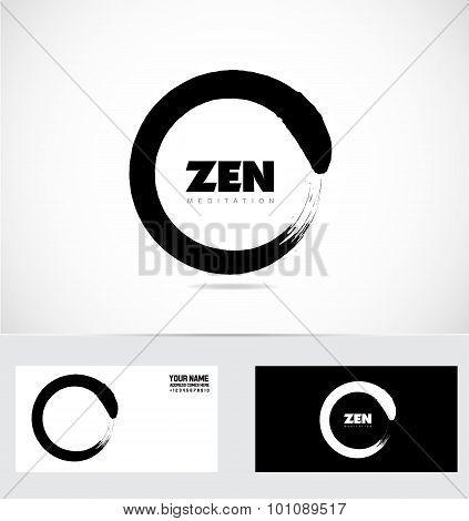 Zen Logo Circle Grunge Symbol