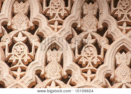 Islamic (Moorish) Art carved on a wall