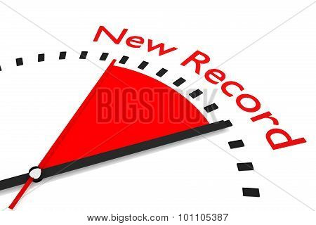 Clock With Red Seconds Hand Area New Record