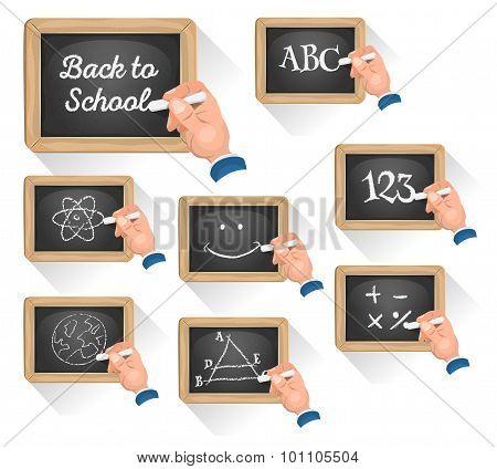 Chalkboard Signs For School Reentry