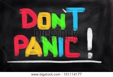 Don't Panic Concept