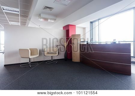 Welcome Desk And Chairs