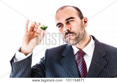 Businessman With Emerald