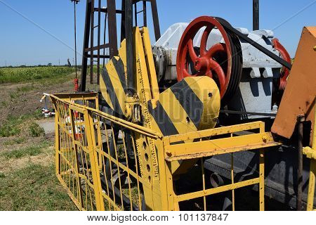 Electric drive and reducer of the pumping unit of an oil well. Equipment of oil fields. poster