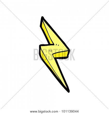 comic book style cartoon lightning bolt symbol