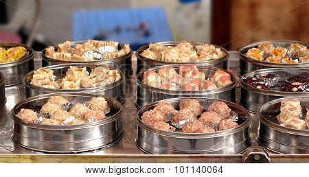 Steamers With Dim Sum Dishes