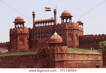 Residence of the Mughal Emperor of India Red Fort In New Delhi