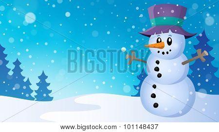 Winter snowman topic image 5 - eps10 vector illustration.