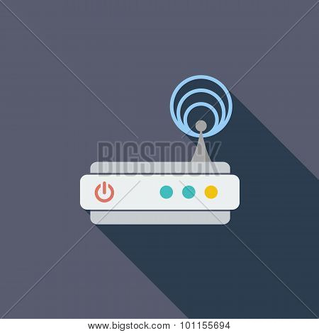 Router single icon.