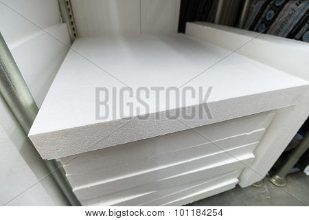Stack Of Foam Plastic For Insulation