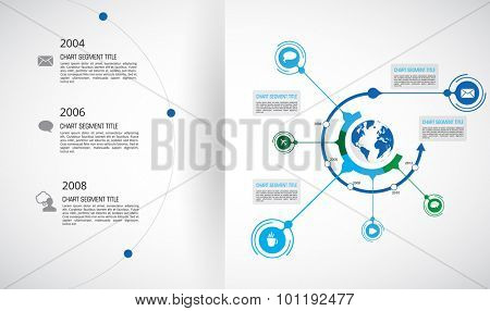 Timeline Infographic, Vector design template poster
