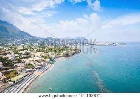 Coastal Landscape With Beach Of Forio, Ischia