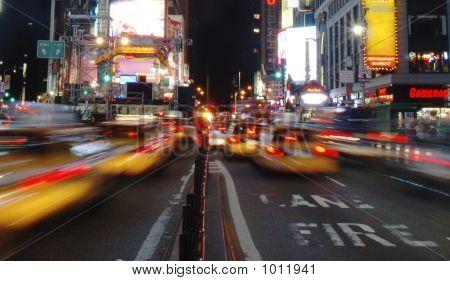 Taxi Mayhem In Times Square