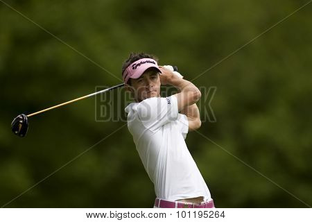WENTWORTH, ENGLAND. 23 MAY 2009.Jean-Fran���ois LUCQUIN FRA  playing in the 3rd round of the European Tour BMW PGA Championship.