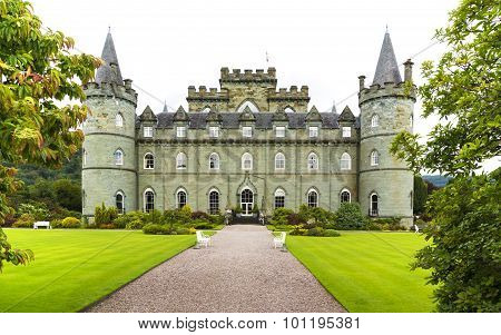 Inveraray, Argyle, Scotland August 28 - Inveraray Castle.