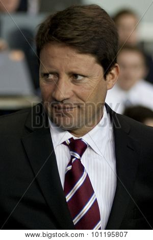 LONDON ENGLAND 25 August 2011.  Paulo Sergio the Hearts Manager during the UEFA Europa league match between Tottenham Hotspurs  from England and Heart of Midlothian  from Scotland.
