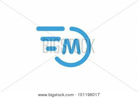 Fast line circle logo M rings monogram