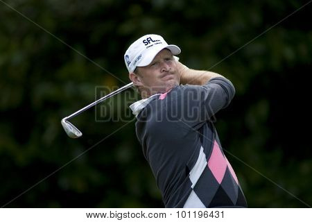 WENTWORTH, ENGLAND. 22 MAY 2009.Jamie DONALDSON (GBR) playing in the 2nd round of the European Tour BMW PGA Championship.