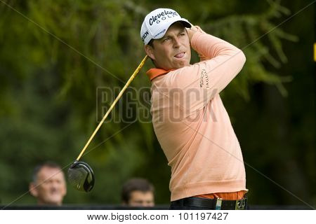 GLENEAGLES SCOTLAND, 27 AUGUST 2009. David Howell (GBR) competing in the first round of the European Tour Johnnie Walker Championship.