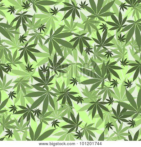 Seamless cannabis pattern