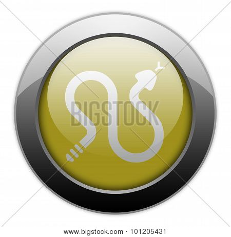 Image Icon Button Pictogram with Rattlesnakes symbol poster