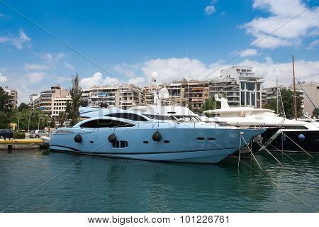 Fast Motor Boat And Luxury