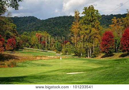 Golf Green in Autumn