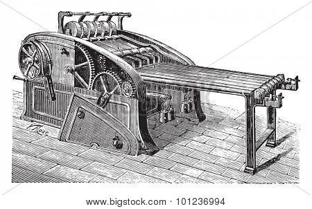 Spreader linen, vintage engraved illustration. Industrial encyclopedia E.-O. Lami - 1875.