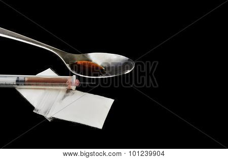 Heroin In A Hypodermic Needle