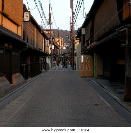 Gion Street At The Dusk