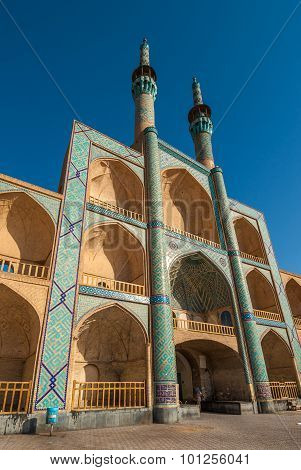 Highly detailed image of Amir Chakhmaq Complex in Yazd Iran poster