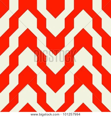 Pattern With Zig Zag In Red Color
