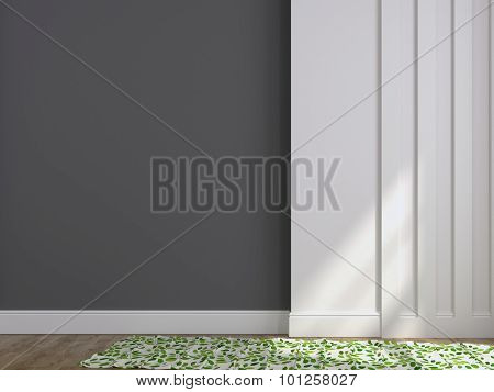 Background Of Gray And White Walls And A Carpet
